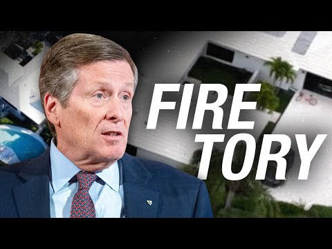 CAUGHT RED-HANDED! Exclusive vid of getaway at Toronto mayor John Tory's Florida house this weekend!