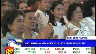 Watch: Chiz Escudero 2016 Political Announcement