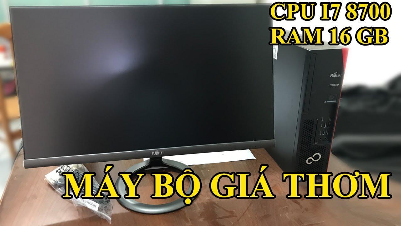 Máy bộ Fujitsu Esprimo Core i7 8th, Ram 16GB DDR4, SSD | NHỎ GỌN nhưng cấu hình mạnh để Làm Video