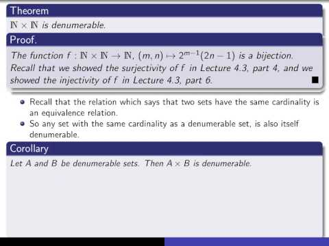 Section 5.2- 5.5, part 2 N x N is denumerable