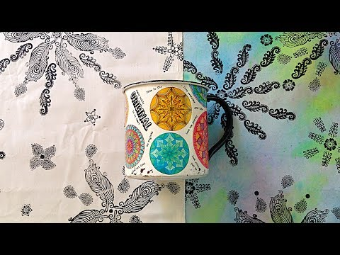 Block Printing Fabric Fun and More! with Barb Owen - HowToGe
