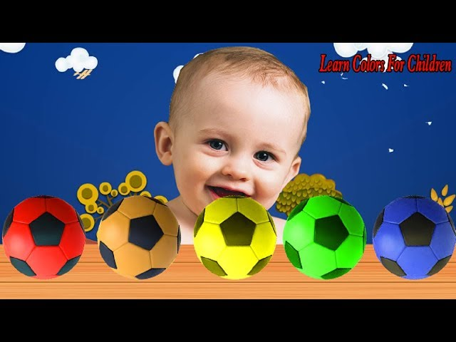 Colors for children to learn with soccer balls finger family song for kids children