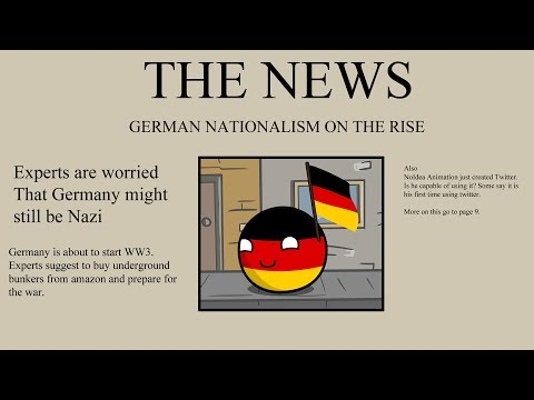 UK drinks beer and German nationalism - Countryballs