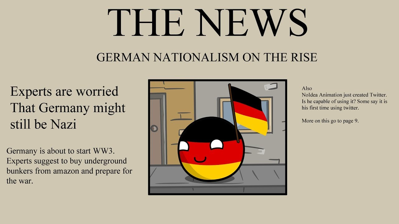 "german nationalism In addition to influential cartoons such as ""zwischen berlin und rom,"" another popular form used to promote nationalism during this fragile time in german history was a song called ""deutchlandlied."