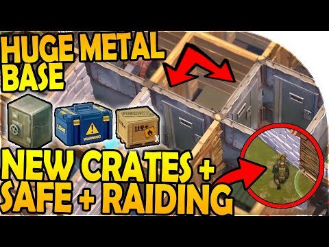 HUGE METAL BASE + NEW RAIDING + NEW SAFE + NEW CRATES - Last Day On Earth Survival 1.7.2 Update