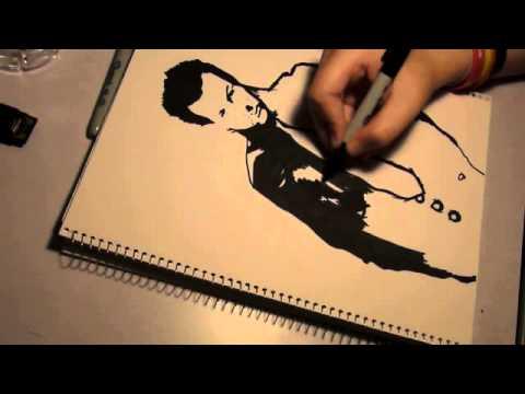 Speed drawing of Glenn Hetrick