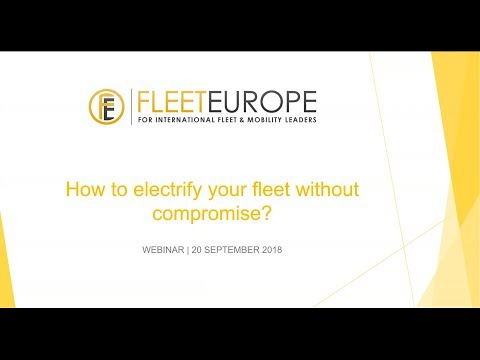 """Webinar: """"How to electrify your fleet without compromise?"""""""