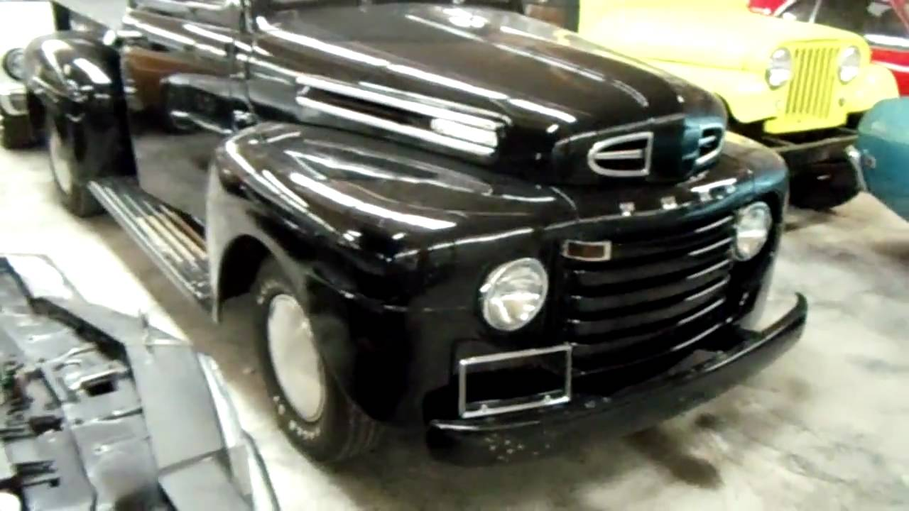 1950 ford f1 pick up black nicely restored and modified. Black Bedroom Furniture Sets. Home Design Ideas