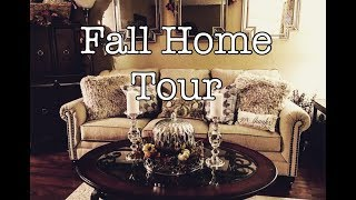 Fall Decor Home Tour | Fall Traditional & Glam | The Green Notebook