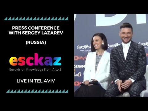 ESCKAZ In Tel Aviv: Press Conference With Sergey Lazarev (Russia)