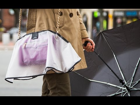 A raincoat that covers what you're carrying.