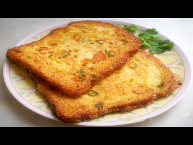 Bread Omelette Recipe | How to make Bread Omelette With Eng Subtitles | PDTV Foods