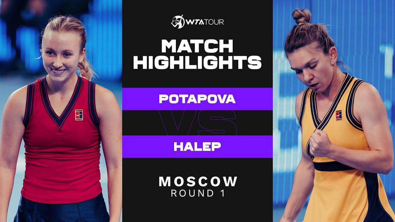 Download Anastasia Potapova vs. Simona Halep | 2021 Moscow Round 1 | WTA Match Highlights