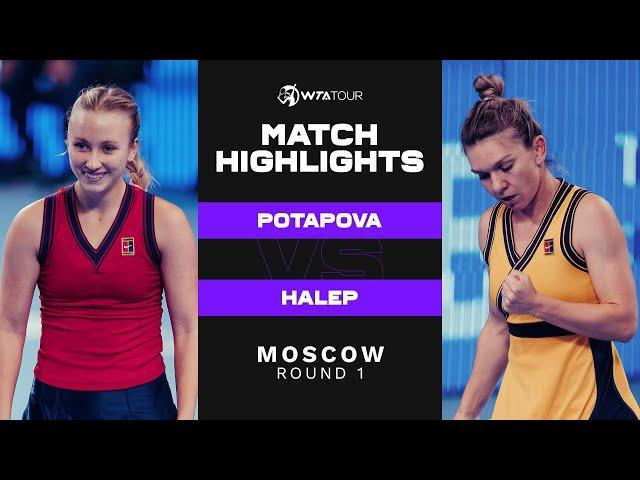 Anastasia Potapova vs. Simona Halep | 2021 Moscow Round 1 | WTA Match Highlights