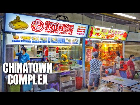 Chinatown Complex Food Centre Singapore: Cycling For Chicken Rice