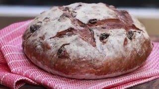 Видео-рецепт: хлеб с корицей и изюмом в печи на дровах