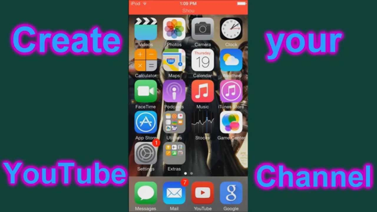 How to make a YouTube Channel on your iPhone/iPod/iPad May ...