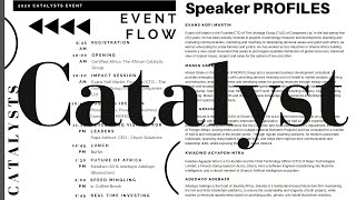 The Catalyst Event | The Africa Catalytic Group & Certified Africa