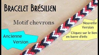[TUTO]  Bracelet brésilien très facile avec chevrons  (débutant)
