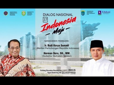 Live Event - Menteri Perhubungan Bapak Budi Karya Sumadi dan Gubernur Sumatera Selatan bapak Herman