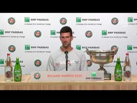 Novak speaking about the boy who he gave his racket to