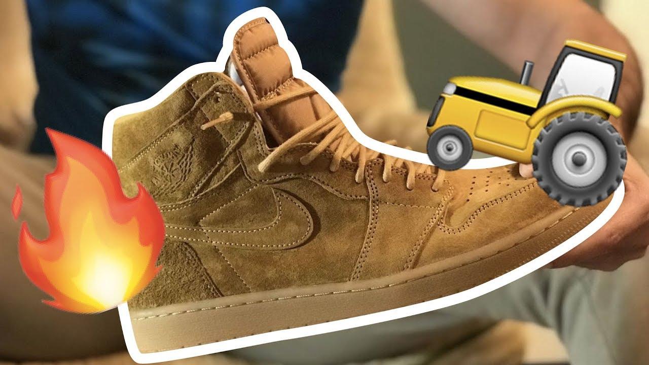 separation shoes 927e3 ba8bd NIKE AIR JORDAN 1 WHEAT GOLDEN HARVEST REVIEW