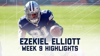Ezekiel Elliott Eats Up 2 TDs | Cowboys vs. Browns | NFL Week 9 Player Highlights