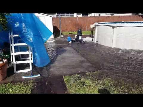 Pool Burst During