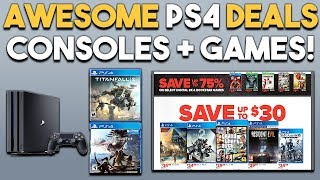 AWESOME PS4 Deals on CONSOLES and GAMES RIGHT NOW!