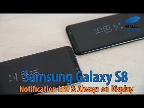Samsung Galaxy S8 notification LED and Always on Display ENG 4k