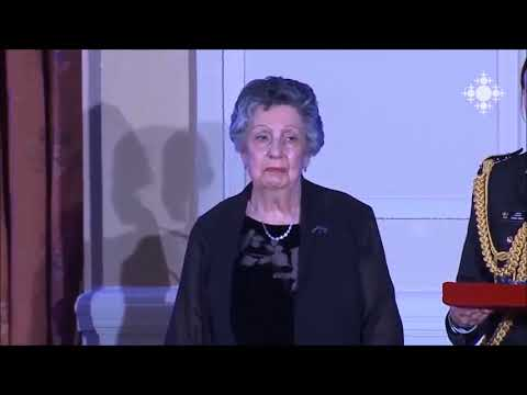 CFFA Chair, Mrs. Marguerite Kazarian, M.S.M., was honoured by the Governor General (Shoghakat TV)