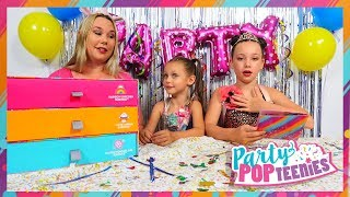 Fun Kids Party With Party Pop Teenies Surprise Toys Popper Blind Bag Doll Unboxing