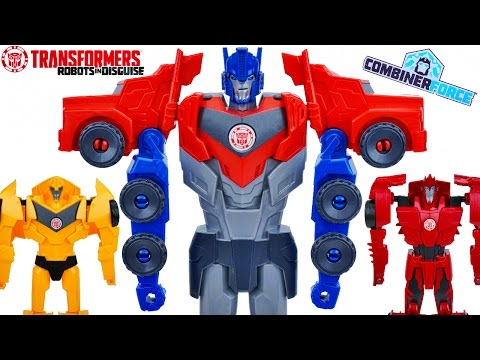 TRANSFORMERS ROBOTS IN DISGUISE COMBINER FORCE GIANT TITAN CHANGERS WAVE 1 & 2 TOYS