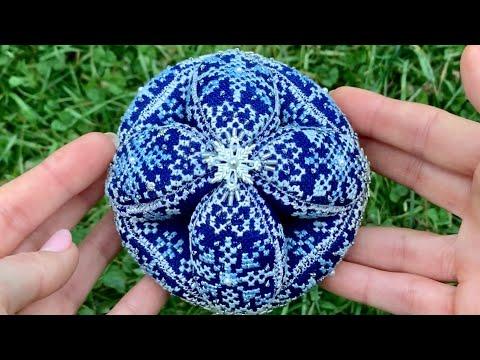 Снежный шарик от Just Nan. Готовая работа, подробный подбор.