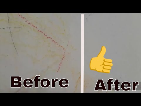 How to remove pencil marks and crayon off the painted wall quick and easy