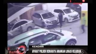 PERKELAHIAN ANTAR PENGUNJUNG DISCOTIK LIQUID DI KAWASAN PARKIR TEREKAM CCTV