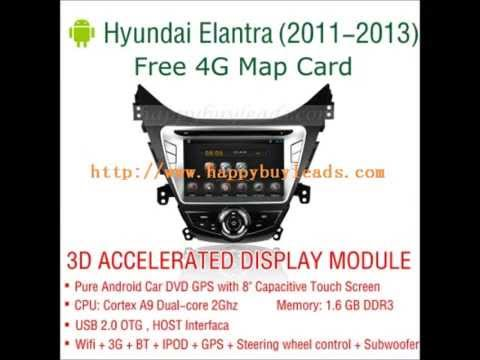 Android Auto Dvd Player For Hyundai Elantra 2011 2013 Gps