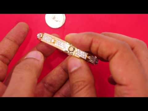 Cartier Style Love Bangle with All Clean Diamonds