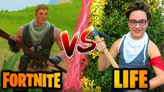 IN FORTNITE VS IN THE LIFE! (Fortnite Real Life)