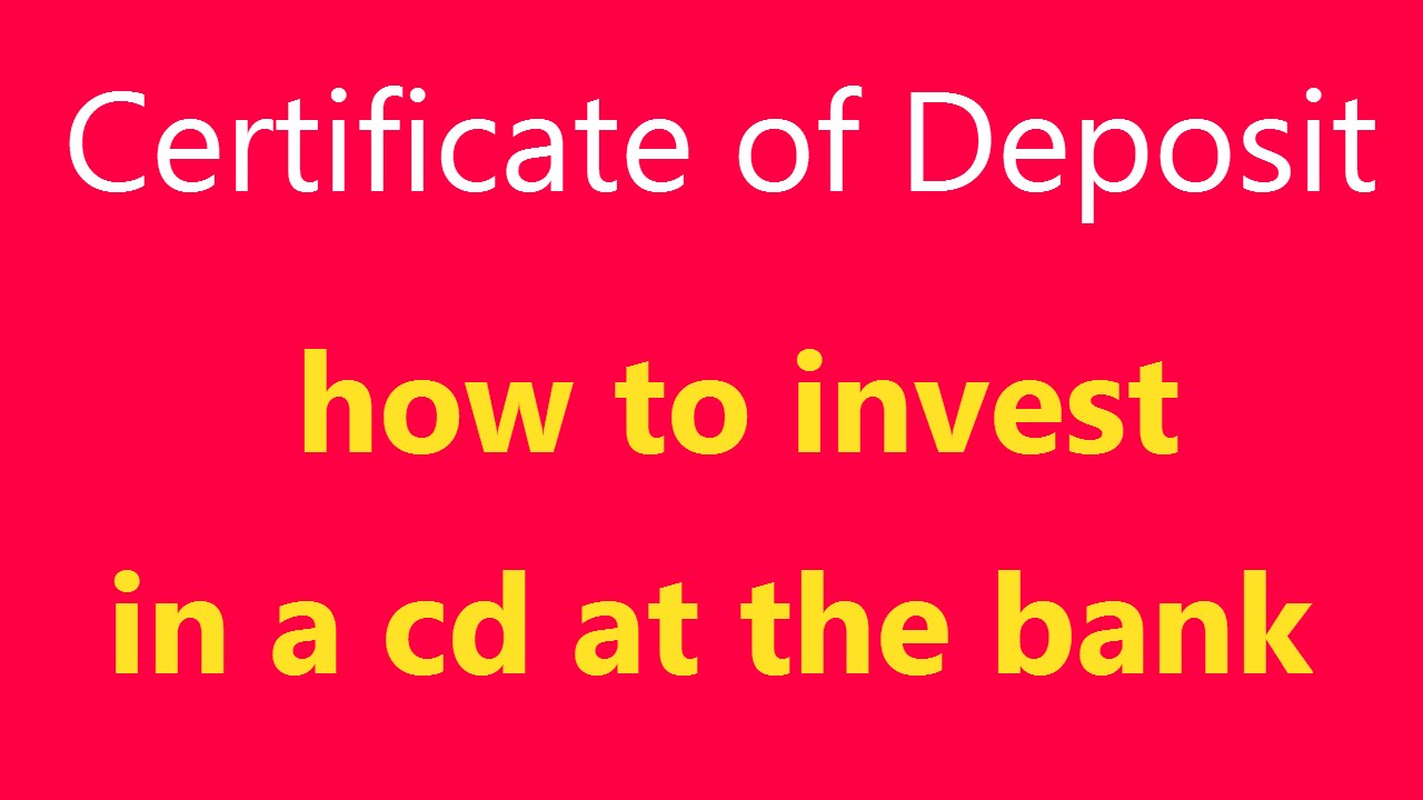 Certificate Of Deposit What Is It How Does A Cd Work Definition