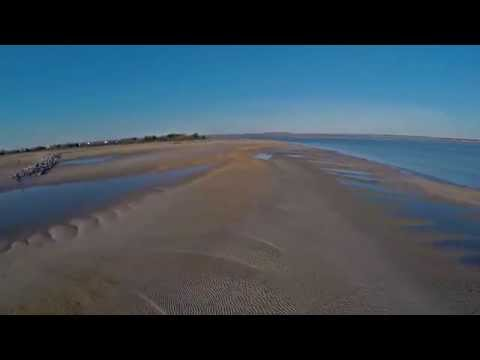 Hayling Island sea defence work and sand bar movement February 2015