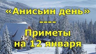 Приметы и поговорки на 12 января. Народный праздник «Анисьин день». Именины.