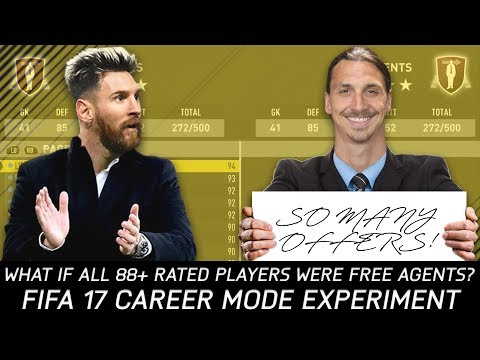 What If All The 88+ Rated Players Were Free Agents? - FIFA 17 Experiment