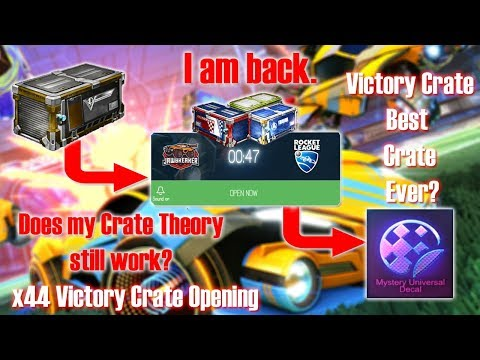 Does my Crate Theory still work? x44 Victory Crate Opening: Black Market Decal and more!