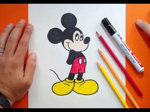 Como dibujar a Mickey Mouse paso a paso 6  Disney  How