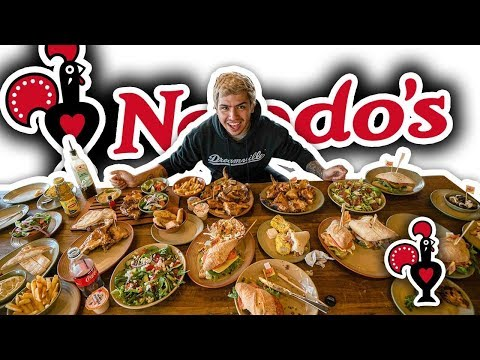 ORDERING THE ENTIRE NANDOS MENU IN AUSTRALIA!