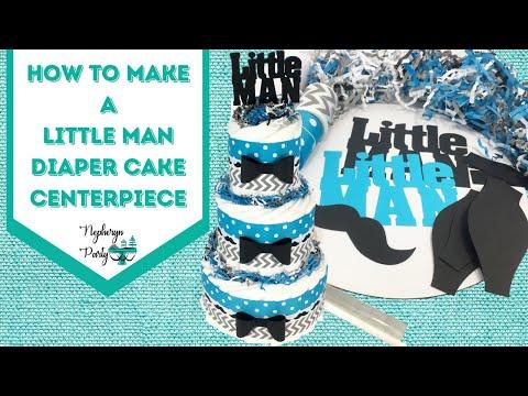 DIY Step-byStep Little Man Diaper Cake Kit Tutorial