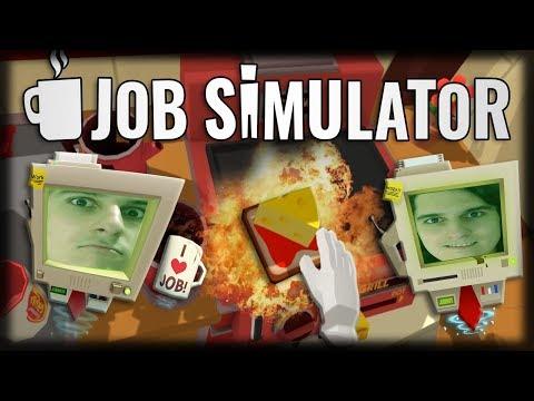 Jogando Job Simulator VR - Fazendo Pizzas, Arrumando Carros e Limpando Cozinhas!! (HTC VIVE)