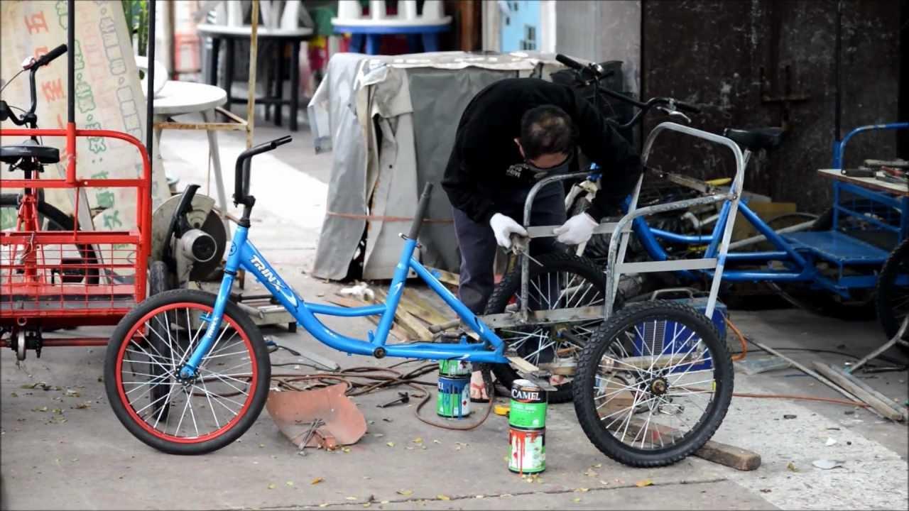 Hong Kong The Rickshaw Maker Three Seat Bicycle In