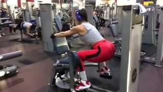 Hips & Glutes blaster on the Hip Abductor Machine.